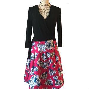 Diane Von Furstenberg DVF Asian Print Wrap Dress